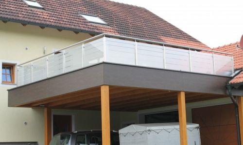 Balkon Edelstahl Glas