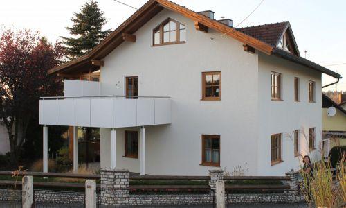 Balkonanlage weiß