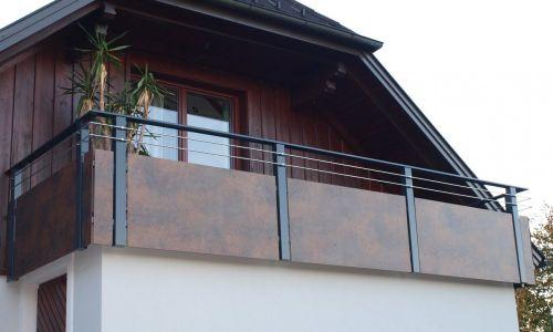Edelrost Balkon