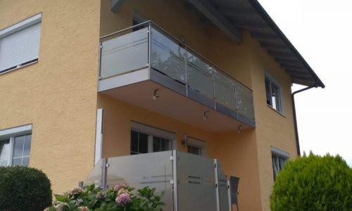 Edelstahl-Glas Geländer